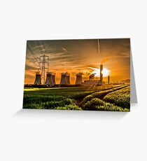 #21 Sunsetting on Ratcliffe Power Station Greeting Card