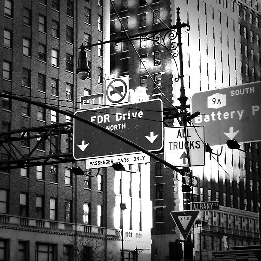 Intersection near Battery Park by Coby .