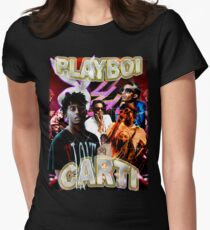 Vintage Playboi Carti Illicit Epiphany Women's Fitted T-Shirt