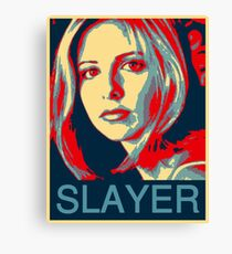 Buffy the Vampire Slayer - Obama Poster Canvas Print