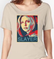 Buffy the Vampire Slayer - Obama Poster Women's Relaxed Fit T-Shirt