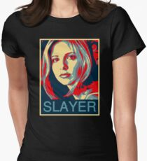 Buffy the Vampire Slayer - Obama Poster Womens Fitted T-Shirt