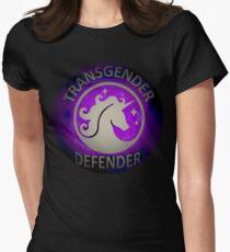 Transgender Defender  Womens Fitted T-Shirt