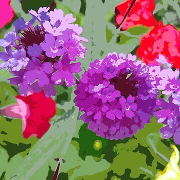 PURPLE FLOWERS by sarahdallow