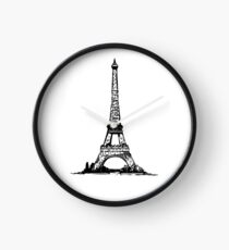 Dijaspora Eiffel Tower Wall  Clock