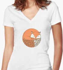 Fox Women's Fitted V-Neck T-Shirt