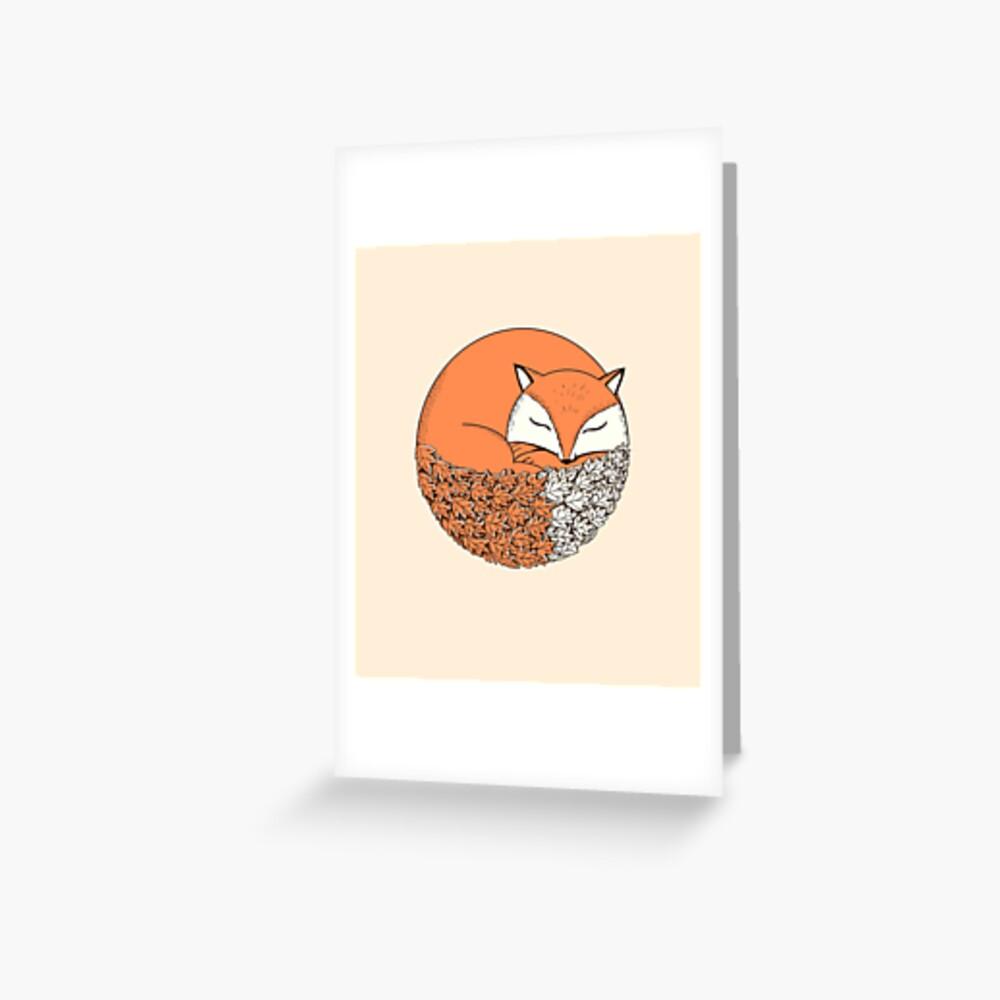 Fuchs Grußkarte