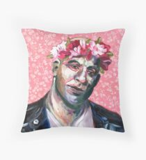 Floral Crown Dom Toretto - I live my life a quarter mile at a time. Throw Pillow