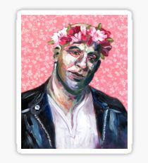 Floral Crown Dom Toretto - I live my life a quarter mile at a time. Sticker