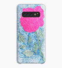 Pen and Ink Vibrant Rose Case/Skin for Samsung Galaxy