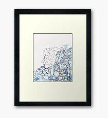 Abstracted Female Portrait Framed Print