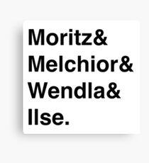 Spring Awakening Helvetica Black Font Canvas Print