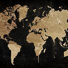 Gold World Map by mindydidit