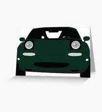 MIATA Mazda mx5 NA GREEN Greeting Card