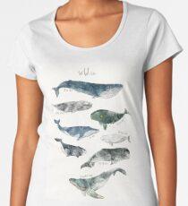Whales Premium Scoop T-Shirt