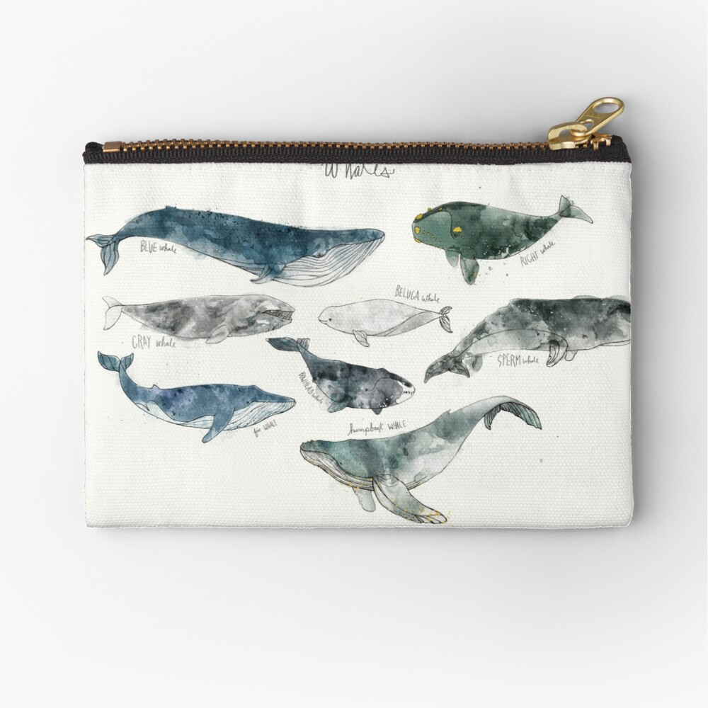 Whales Zipper Pouch