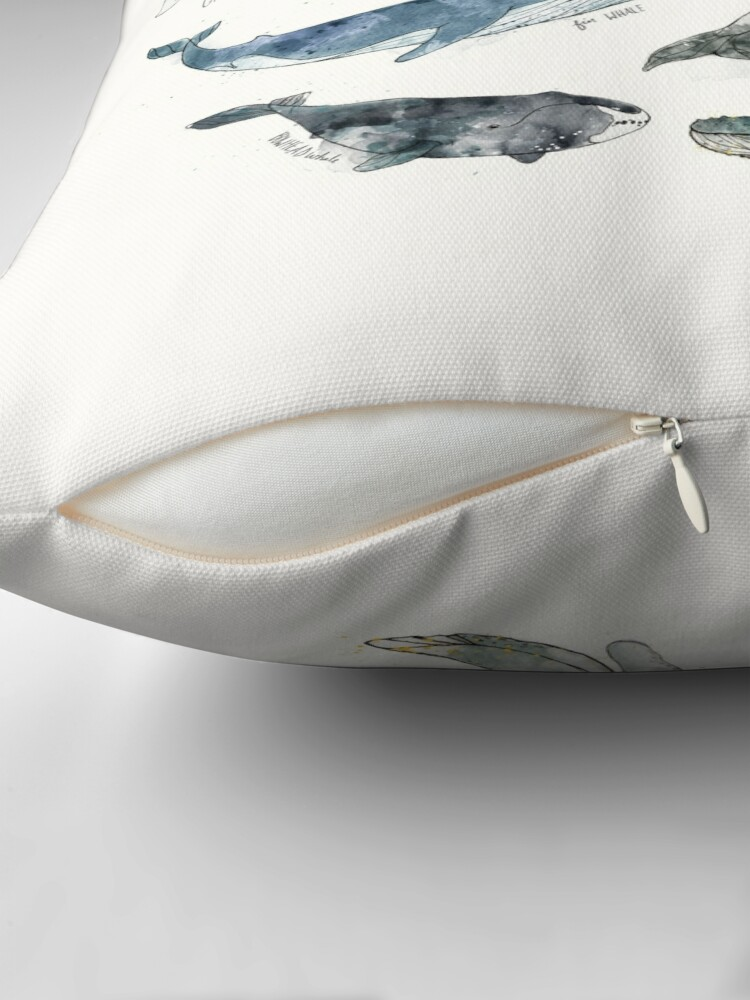 Alternate view of Whales Throw Pillow