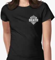 The Review of Death 'Black Diamond' Logo Womens Fitted T-Shirt