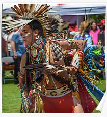 Powwow dancer in a festival Poster
