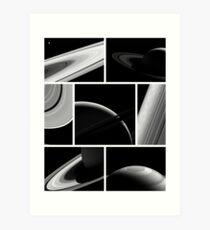 Saturn Cassini Collage Art Print