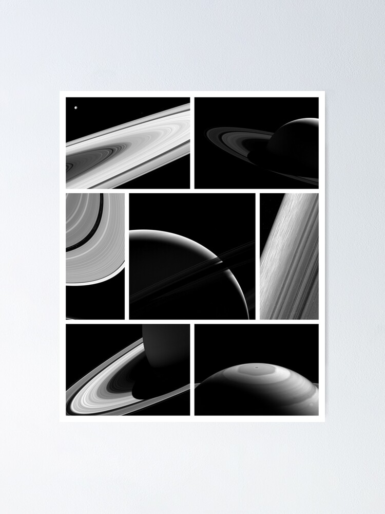 Alternate view of Saturn Cassini Collage Poster