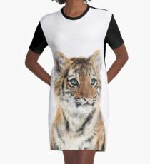 Little Tiger Graphic T-Shirt Dress