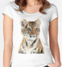 Little Tiger Fitted Scoop T-Shirt