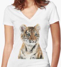 Little Tiger Fitted V-Neck T-Shirt