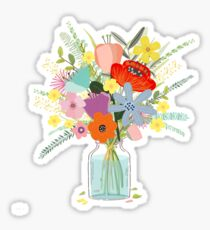 Bringing Summer Wildflowers Inside Sticker