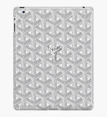 goyard white iPad Case/Skin