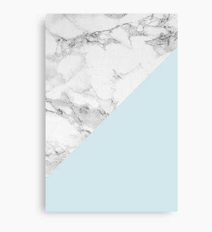 Marble + Blue Pastel Color. Geometría clásica. Lienzo