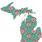 Michigan Shabby Pink Roses by Cherie Balowski