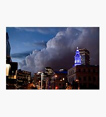 Storm Over Downtown Denver Photographic Print