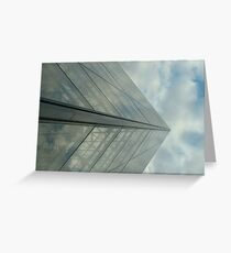 La pyramide de verre Greeting Card