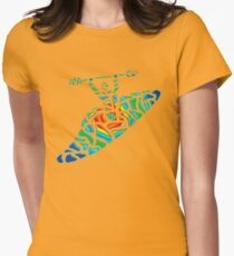 Kayak Country Womens Fitted T-Shirt