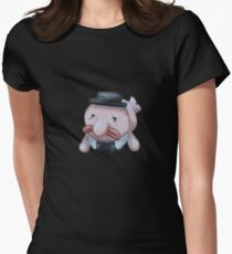 Jeffery the Blob Fish Womens Fitted T-Shirt