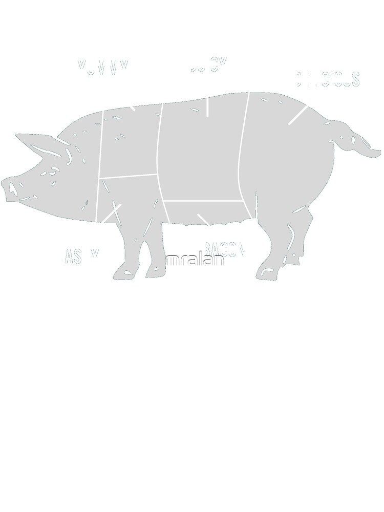 Funny Pig Butcher Chart Diagram by mralan