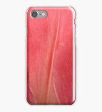 Pink tulip petals close-up texture photo iPhone Case/Skin