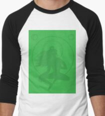 Minimalist Green Tara Buddha Print Men's Baseball ¾ T-Shirt