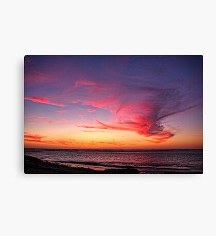 Cloud Monster over Coronation Beach Canvas Print