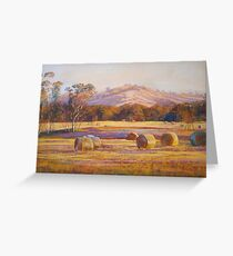 Fields of Gold - Tallarook Greeting Card