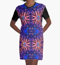 Playful Pattern Graphic T-Shirt Dress