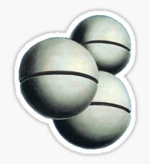 Magritte Spheres Sticker