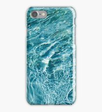 Aquamarine and Turquoise Rainbows - Gems in a Fountain - Horizontal iPhone Case/Skin