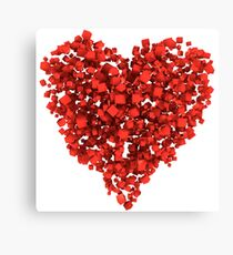 Voxel Heart Canvas Print