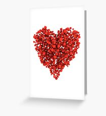 Voxel Heart Greeting Card
