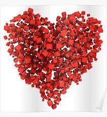 Voxel Heart Poster