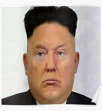 Trump and Kim Jong-un Lovechild Poster
