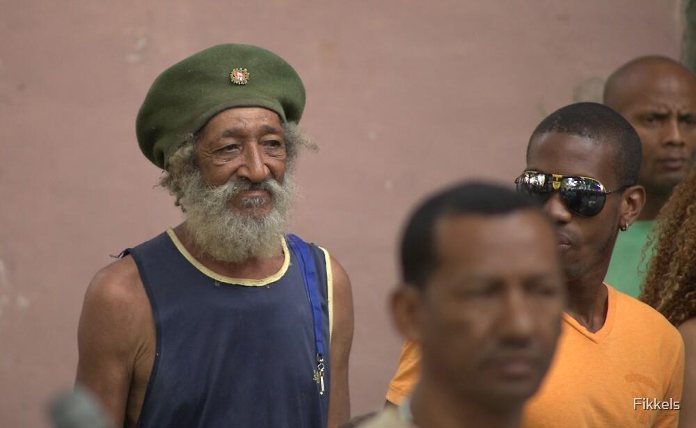 Habana spectator at street dance, Vieja, Havana by Fikkels