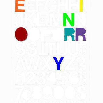 Alphanumeric (Black) by reynoirjr